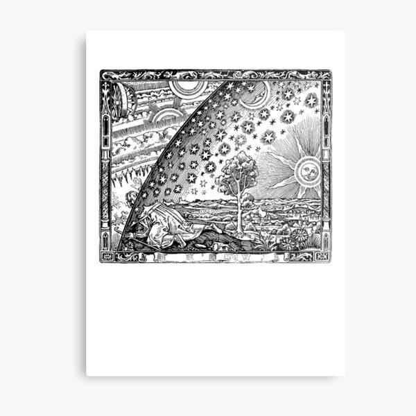 Flammarion Engraving Transparent Metal Print