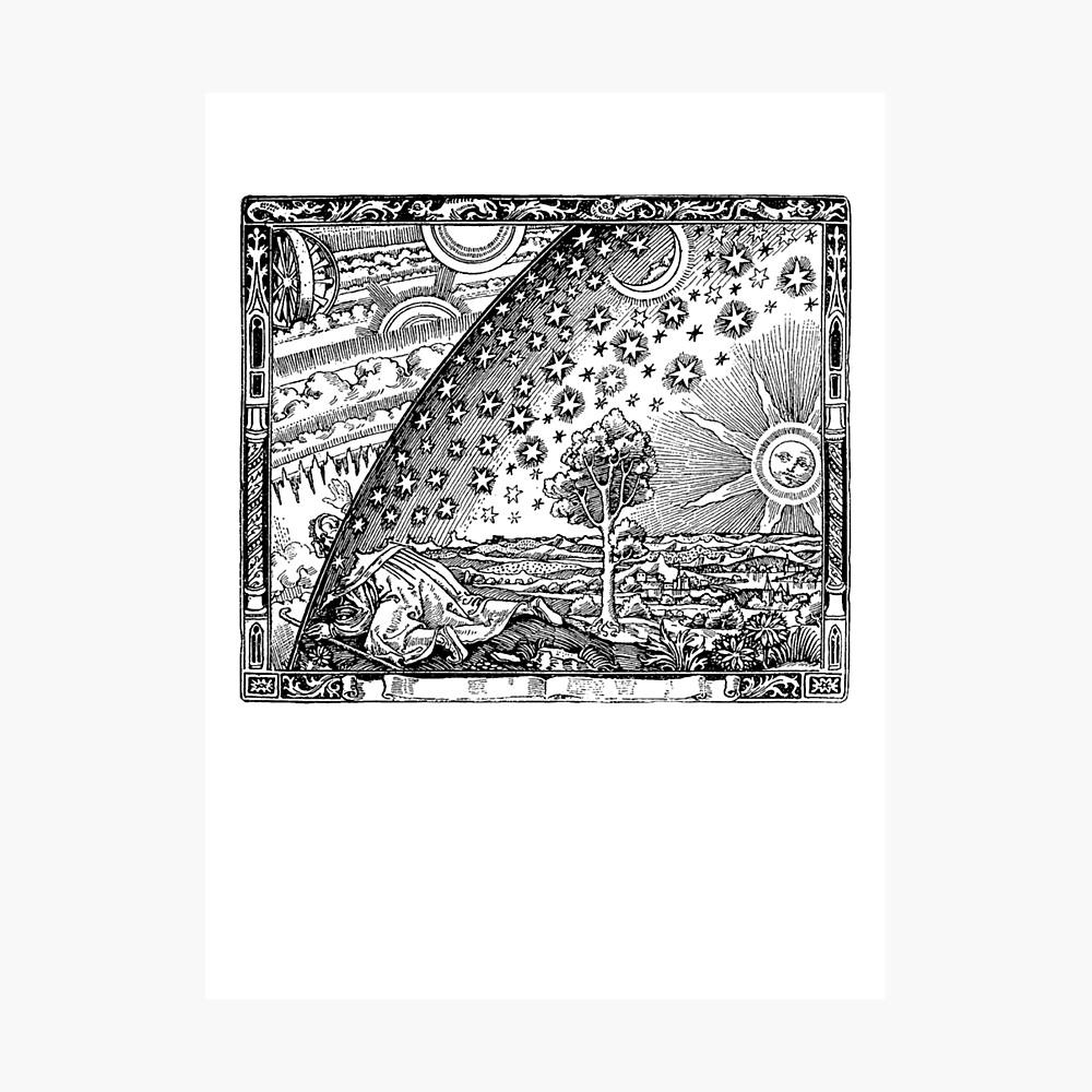 Flammarion Engraving Transparent Photographic Print
