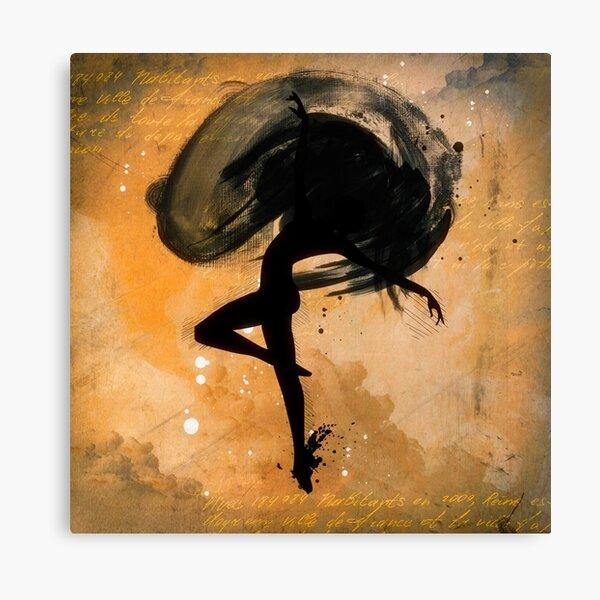 Dancer Ink Drawing Canvas Print