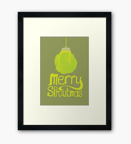 Merry Sproutmas Framed Print