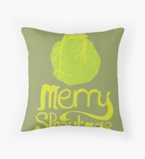 Merry Sproutmas Throw Pillow