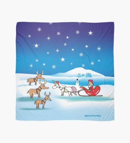 Christmas Unicorn Scarf