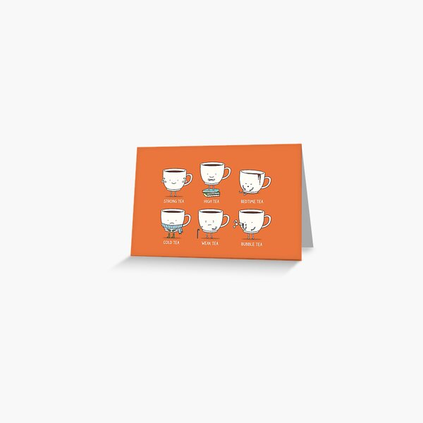 Types of tea Greeting Card