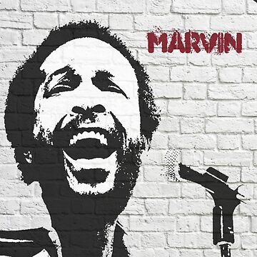 Graffiti art: Marvin Gaye by halibutgoatramb