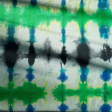 Tie Dye in  Blue and Green 1 by LoraMaze