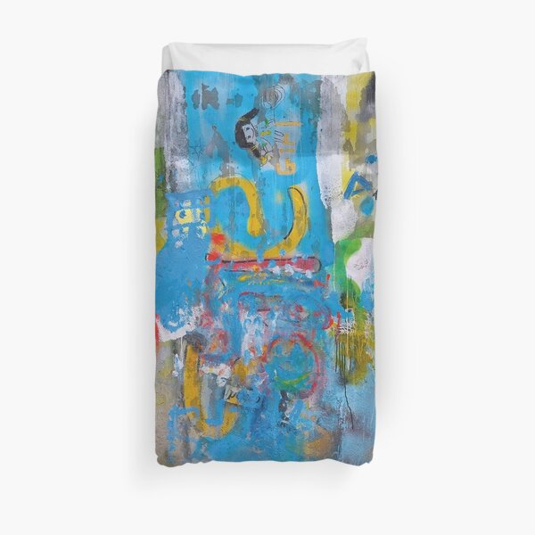 Colorful wall in Shanghai Duvet Cover