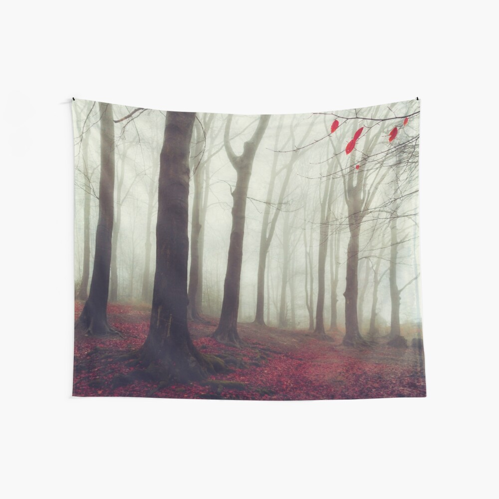 Forest in December Mist Wall Tapestry