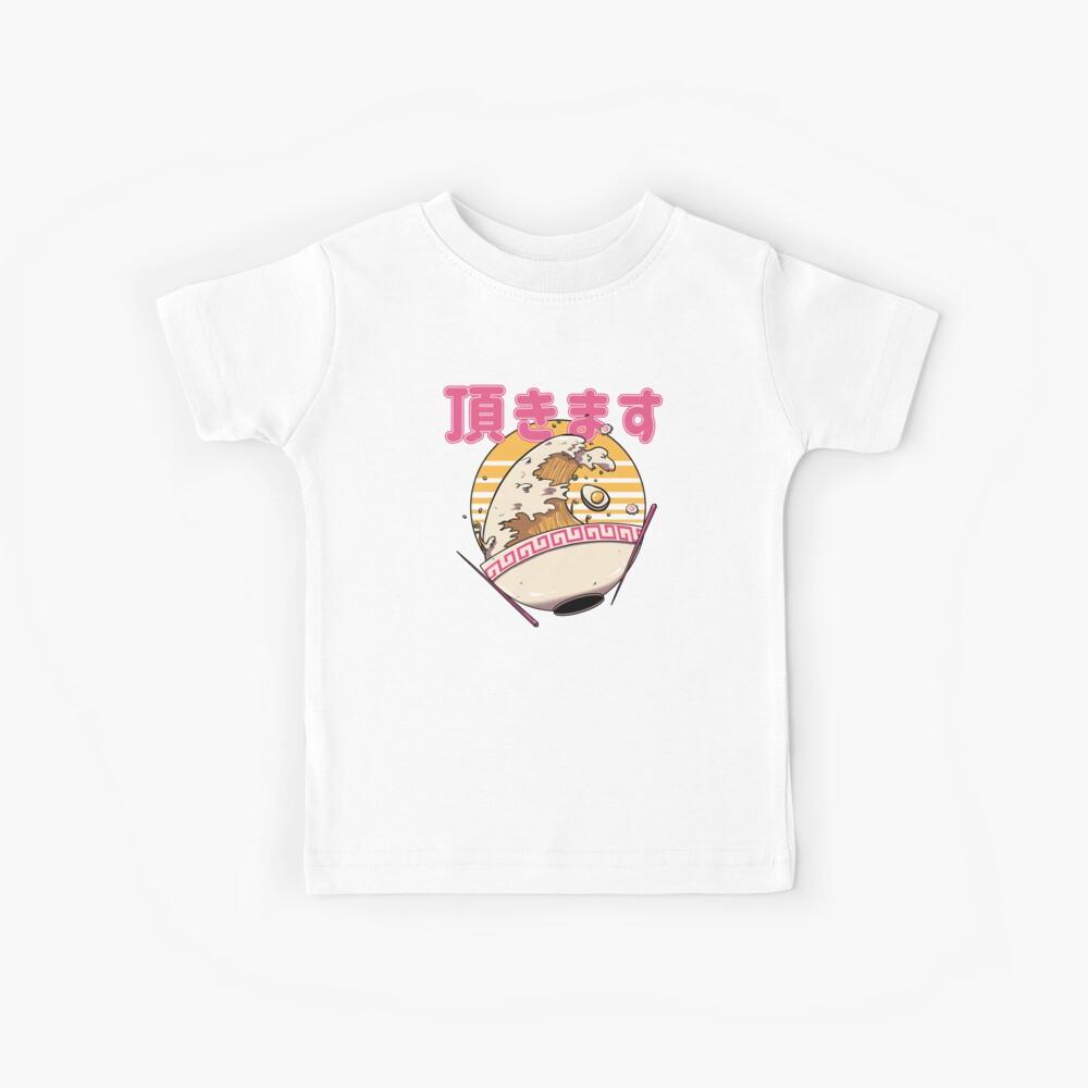 Die große Ramen-Welle Kinder T-Shirt