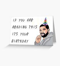 Drake-Geburtstagskarte, Rapper-Grußkarte, Meme-Grußkarten Grußkarte
