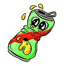 Puking Sad Beer Can Stoptober! by Shelly Still