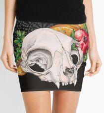 Cat skull Mini Skirt