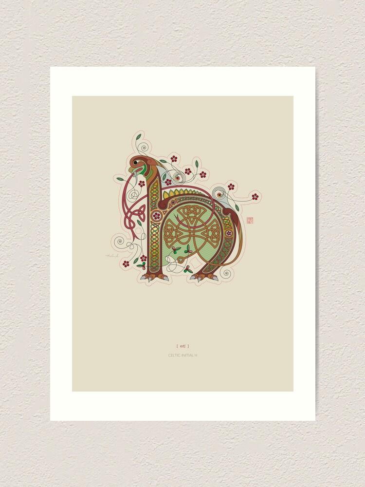 Alternate view of Celtic Initial H  Art Print