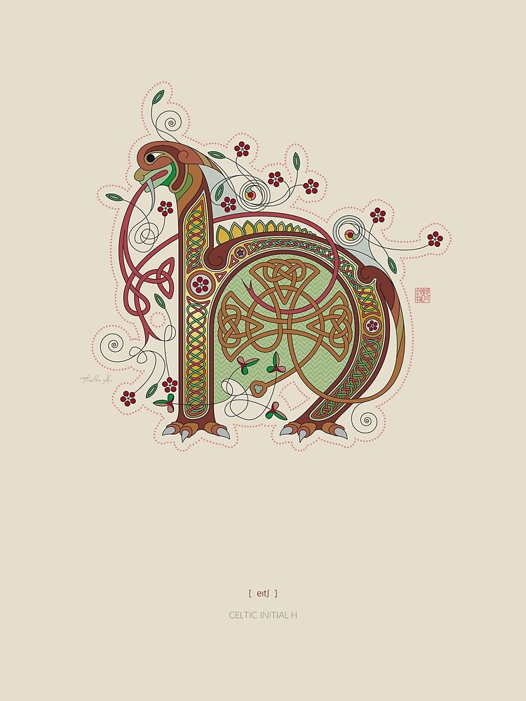 Celtic Initial H  by Thoth-Adan