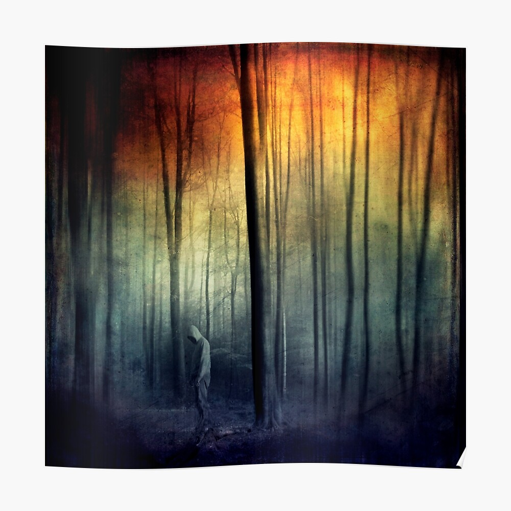 Hollow Ghosts - Surreal and spooky forest scene Poster