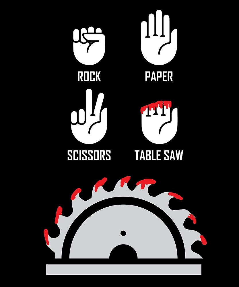 6653d0c83a Rock Paper Scissors Funny Carpenter Gifts Table Saw