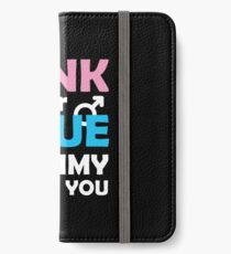 Gender Reveal Gift Pink Or Blue Mommy Loves You iPhone Wallet/Case/Skin