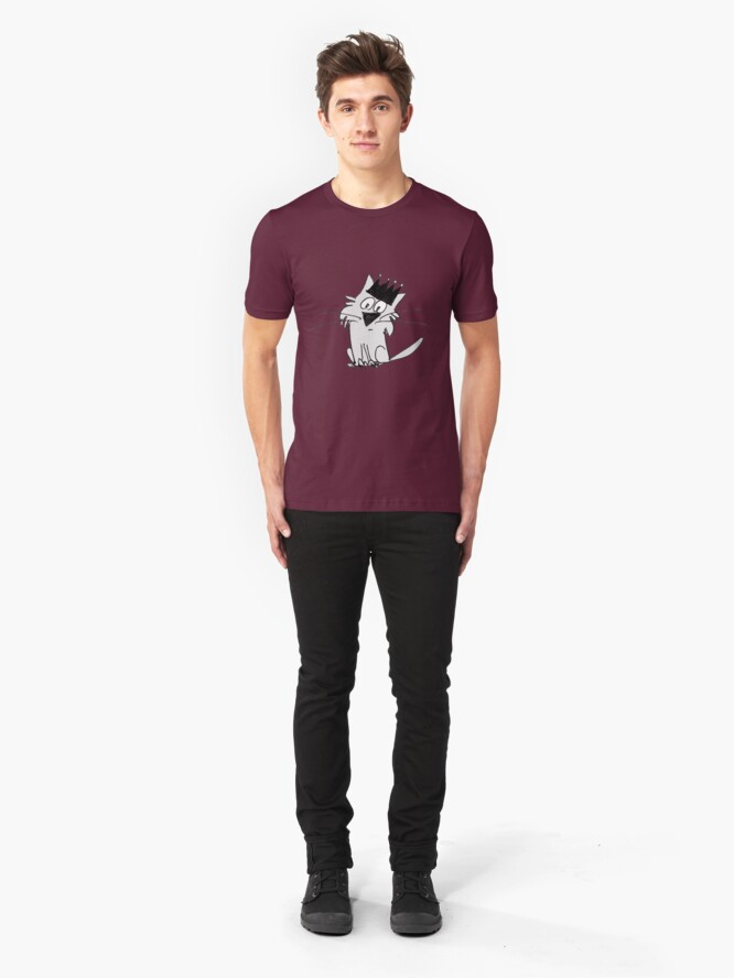 Alternate view of Royal Cat Slim Fit T-Shirt