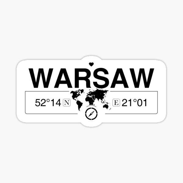 Woiwodschaft Masowien in Warschauƒ mit GPS-Koordinaten der Weltkarte Sticker