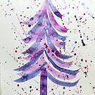 Festive Tree 2 by Jennifer J Watson