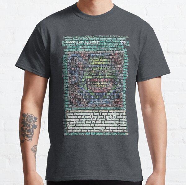 Pot de la cupidité Word Art T-shirt classique