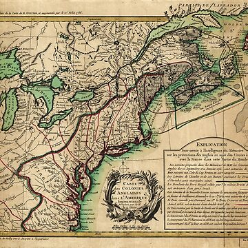 Map of the East Coast of America (1756) by allhistory