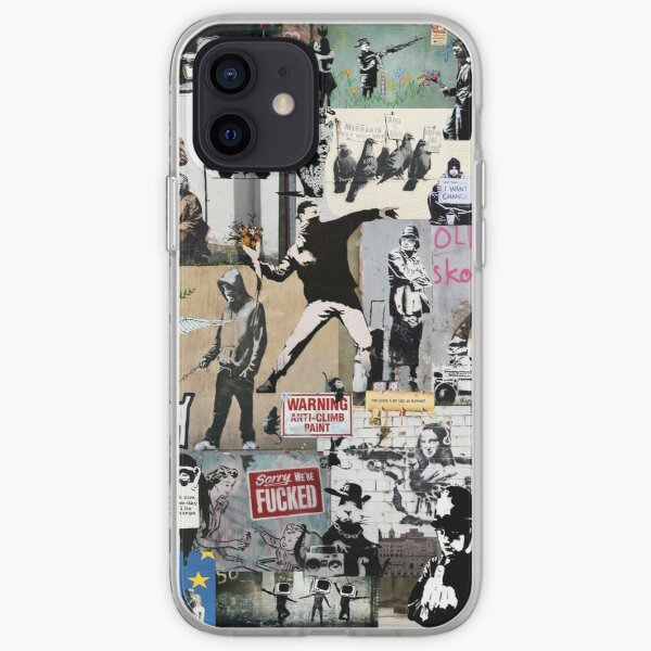 Banksy Collage iPhone Soft Case