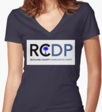 Richland County Democratic Party Women's Fitted V-Neck T-Shirt