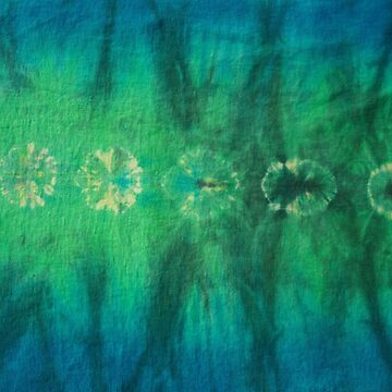 Tie Dye in Blue and Green 4 by LoraMaze