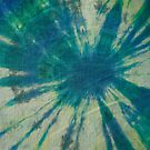 Tie Dye in Blue and Green 6 by LoraMaze