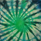 Tie Dye in Blue and Green 8 by LoraMaze