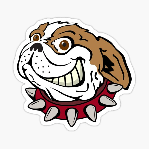 Bulldog with Spiked Collar Sticker