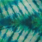 Tie Dye in Blue and Green 9 by LoraMaze