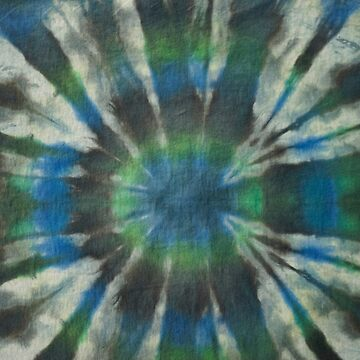Tie Dye in Blue and Green 10 by LoraMaze