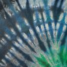 Tie Dye in Blue and Green 16 by LoraMaze