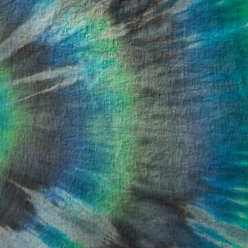 Tie Dye in Blue and Green 17 by LoraMaze