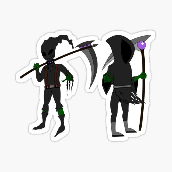 Grim Reaper Halloween Edition Sticker