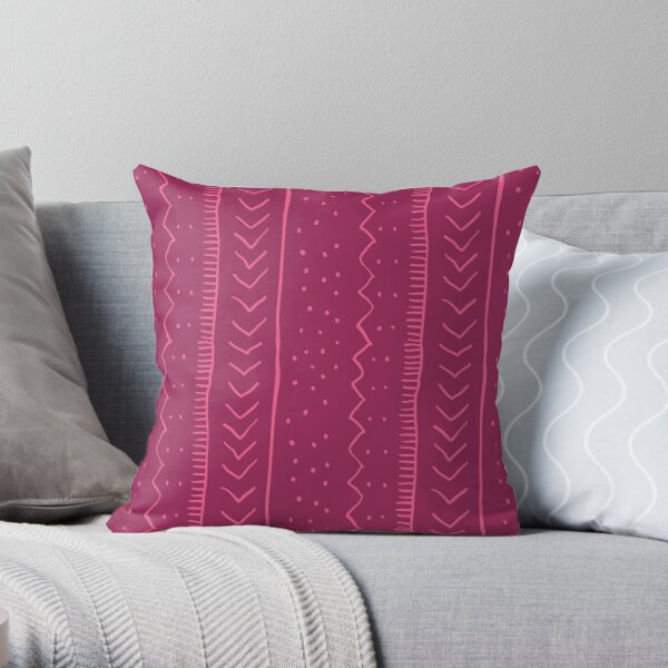 Moroccan Stripe in Magenta Throw Pillow