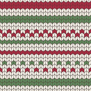 Christmas sweater knitting seamless pattern by artonwear