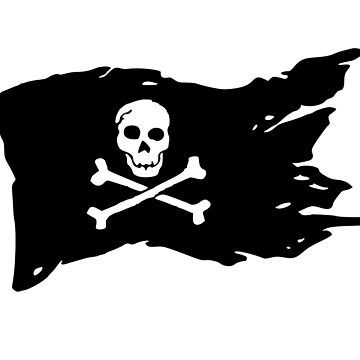 Skull Pirate Crossbones Flag by maxhater