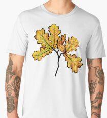 Oak Leaves Autumnal Botanical Art Men's Premium T-Shirt