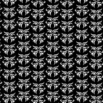 tribal dark - pattern Art Print by ViiGlory