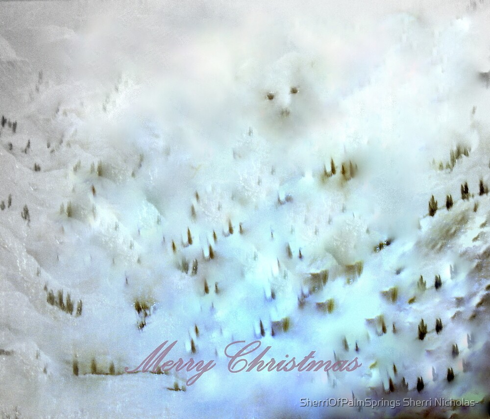 Merry Christmas at Bear Slope by SherriOfPalmSprings Sherri Nicholas-