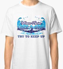 Swimmer swimming pool dive sport tournament gift Classic T-Shirt