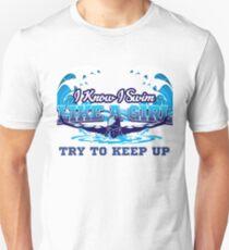 Swimmer swimming pool dive sport tournament gift Unisex T-Shirt