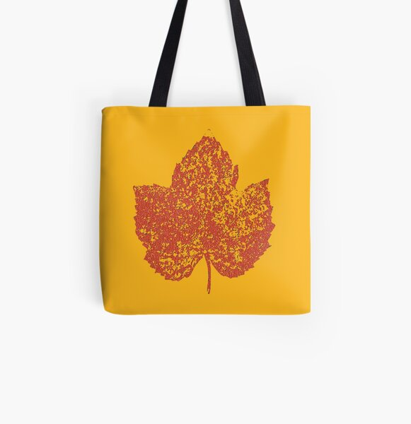 One Love/Leaf All Over Print Tote Bag