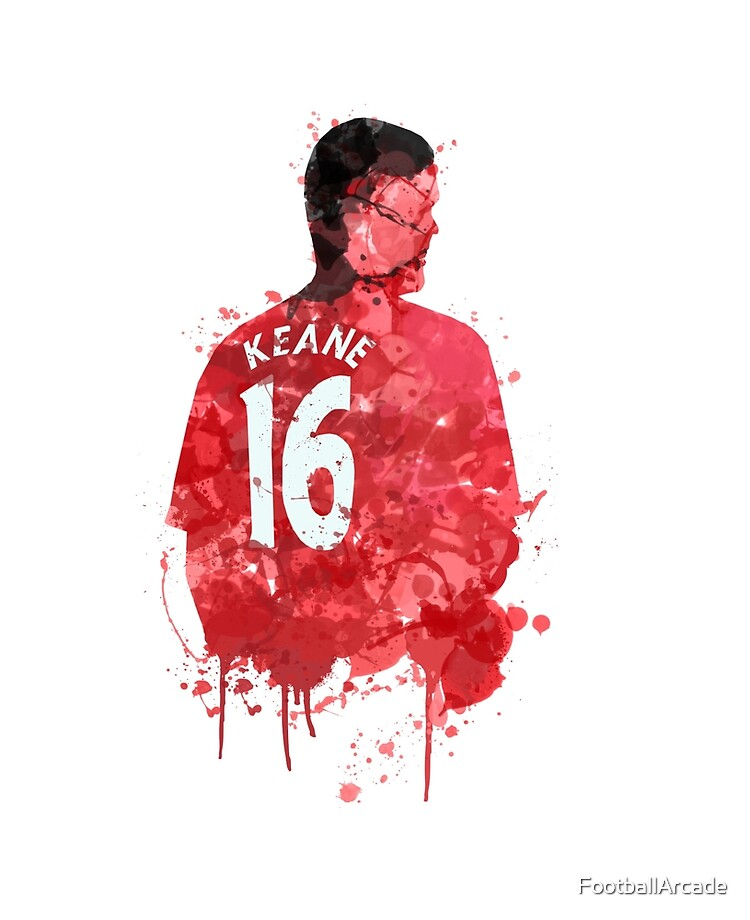 Manchester United Wall Art Football ART PRINT Roy Keane illustration Sport