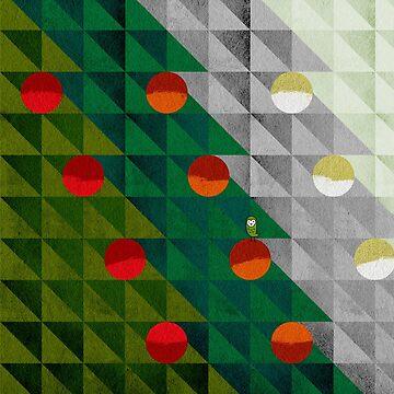 Christmas tree holiday pattern I by OwlyChic