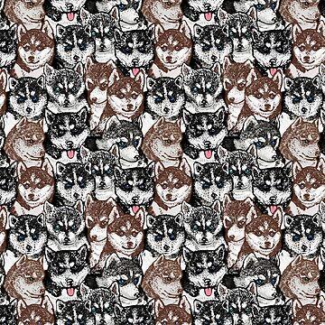 Social Husky by Huebucket
