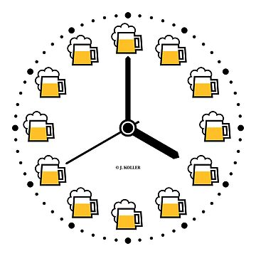 Beer Clock (Beer Time / Beer Hour / Watch) by MrFaulbaum