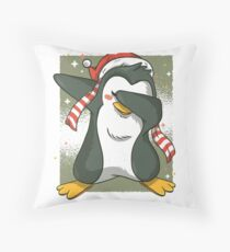 Pingüino dab navideño Dekokissen
